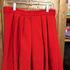 Banana Republic Red Skirt